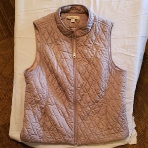 CROFT AND BARROW QUILTED VEST gray XL